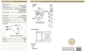 Fancy Intense Blue Diamond Ring, 0.39 Ct. (1.93 Ct. TW), Radiant shape, GIA Certified, 2171786807