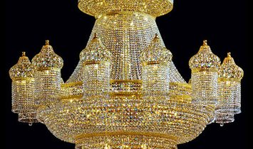 Luxury Crystal Chandelier with Swarovski Crystal and 24-karat Gold