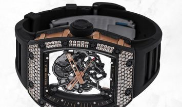 Richard Mille RM 055  Bubba Watson Carbon TPT Diamond and Rose Gold
