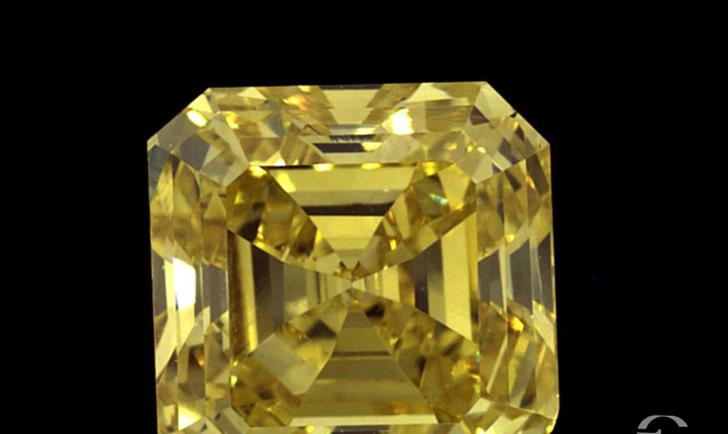 2.29ct Vivid Yellow Square Natural Diamond