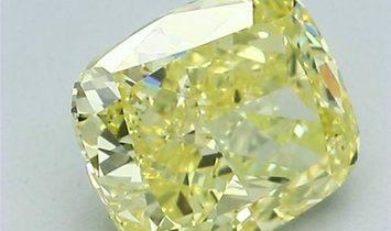 20.69ct Fancy Vivid Yellow Square Step Cut Natural Diamond