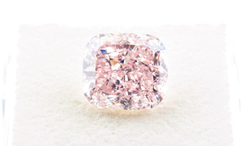 3.79ct Fancy Orangy Pink Natural Diamond