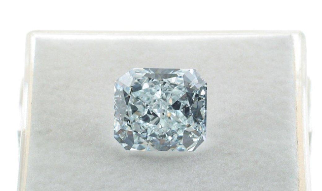 2.94ct Fancy Greenish Blue Natural Diamond