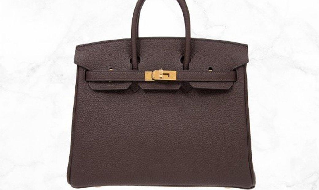 Hermes Birkin 25 Brown Togo Leather