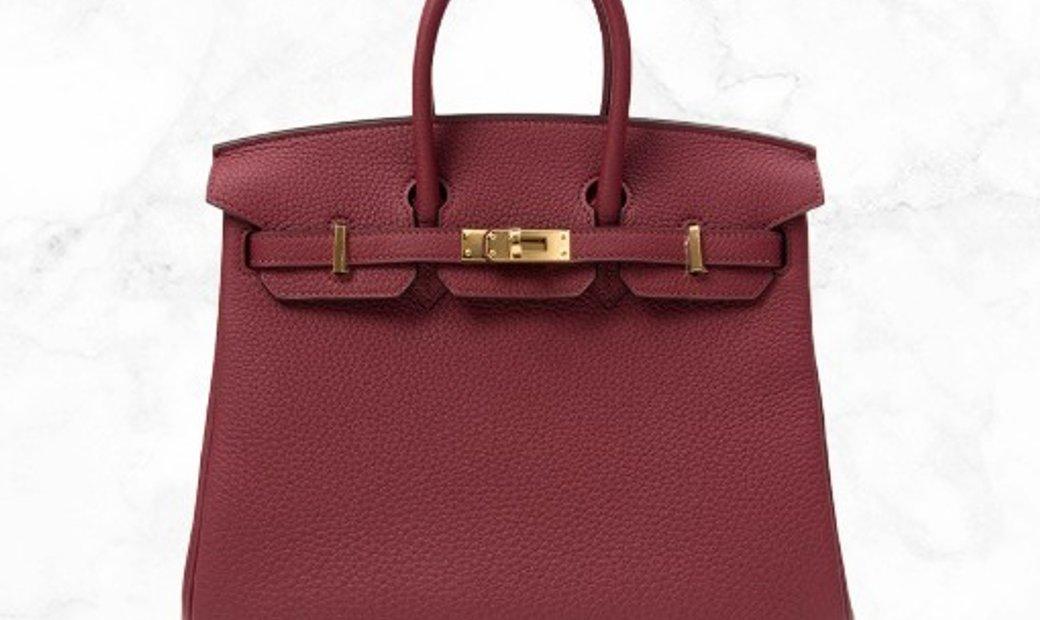 Hermes Birkin 25 Rouge Grenat Togo Leather