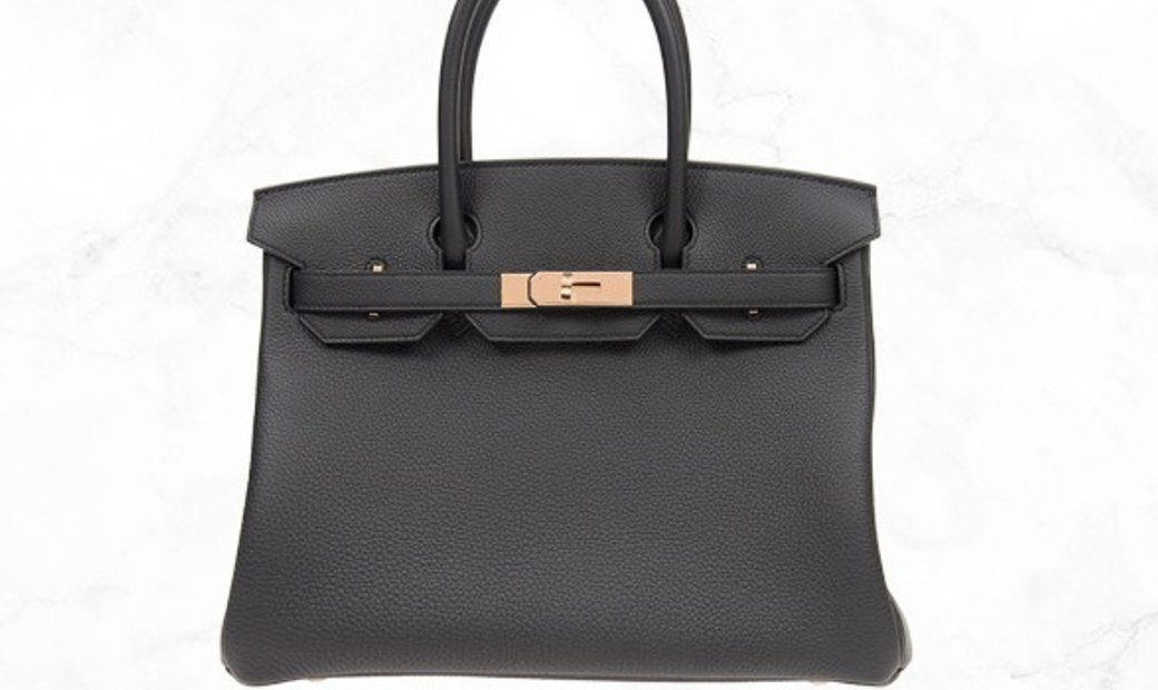 Hermes Birkin 30 Black Togo Leather