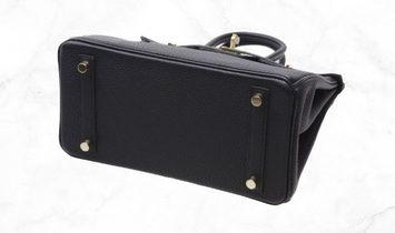 Hermes Birkin 25 Black Togo Leather