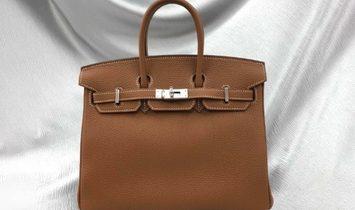 Hermes Birkin 25 Gold Togo Leather