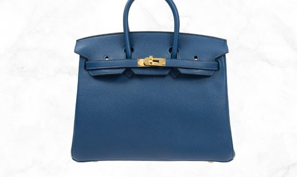 Hermes Birkin 25 S4 Blue Taurillion Clemence Leather