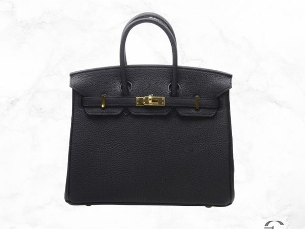 Hermes Birkin 25 Black Togo Leather (10925832)