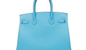 Hermes Birkin 30 Light Blue Epsom Leather