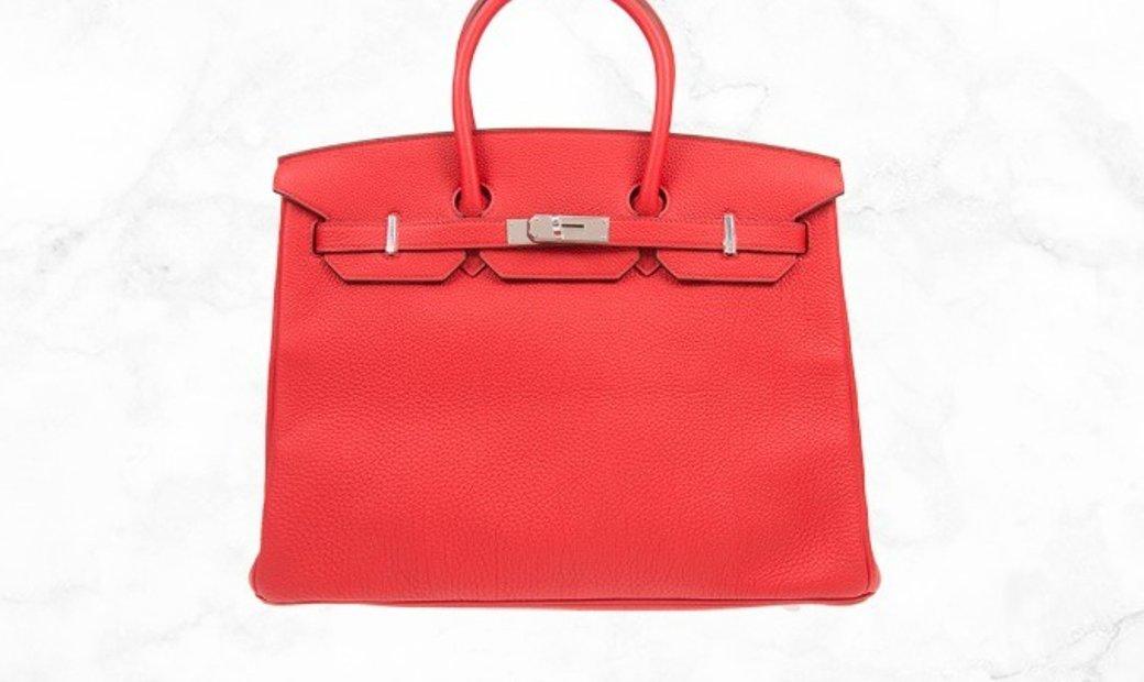 Hermes Birkin 35 Red Togo Leather