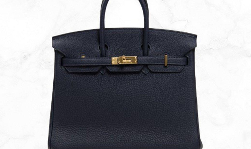 Hermes Birkin 25 2Z Bleu Nuit Togo Leather