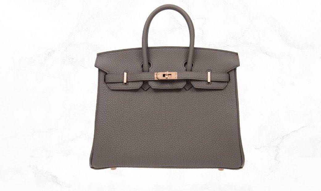 Hermes Birkin 25 Etain Grey Togo Leather