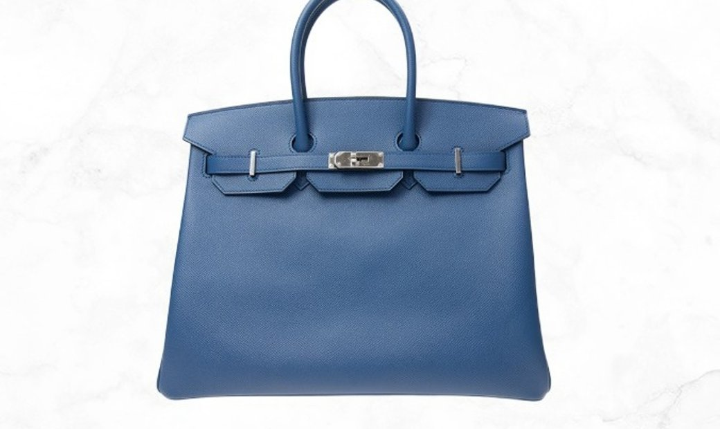 Hermes Birkin 35  Blue R2 Epsom Leather