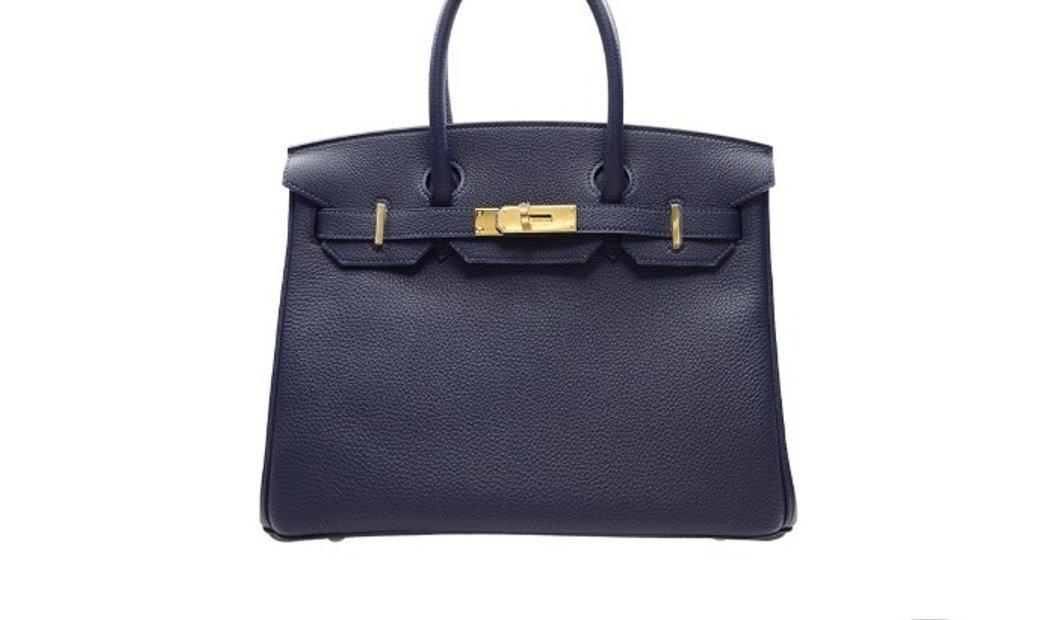Hermes Birkin 30  Blue Nuit 2Z Togo Leather