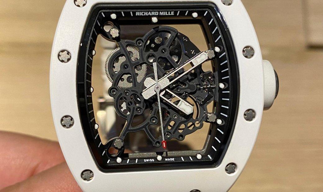 Richard Mille [2013 USED] RM 055 Bubba Watson White Ceramic Mens Watch