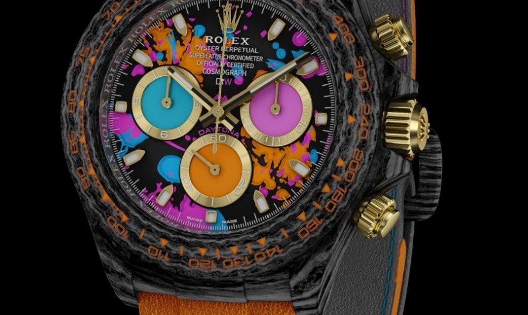 "Rolex DiW NTPT Carbon Daytona ""MOTLEY ORANGE"" Ladies Watch (Retail:US$49,990)"