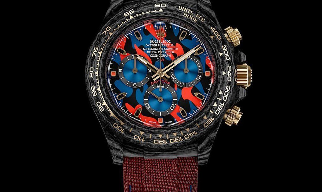 "Rolex DiW Cosmograph NTPT Carbon Daytona ""MILITARY RED"" (Retail:US$60,990)"
