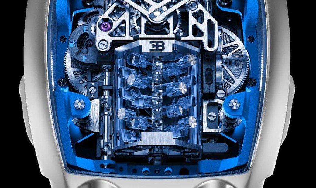 Jacob & Co. 捷克豹 [NEW MODEL] Bugatti Chiron Blue 16 Cylinder Tourbillon