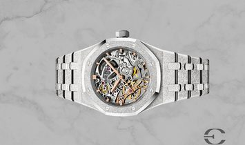 Audemars Piguet Royal Oak 15407BC.GG.1224BC.01 Frosted Gold Double Balance Wheel Openworked