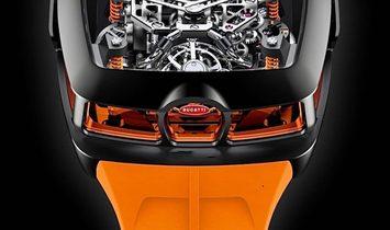 Jacob & Co. 捷克豹 [NEW MODEL] Bugatti Chiron Orange 16 Cylinder Piston Engine Tourbillon