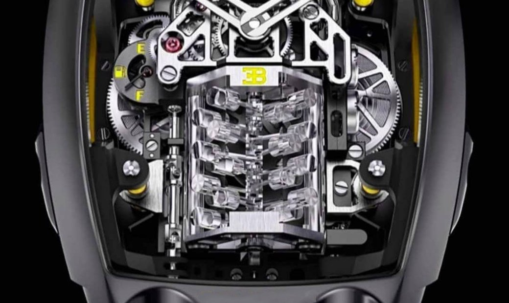 Jacob & Co. 捷克豹 [NEW MODEL] Bugatti Chiron Yellow 16 Cylinder Tourbillon (Retail:US$280,000)