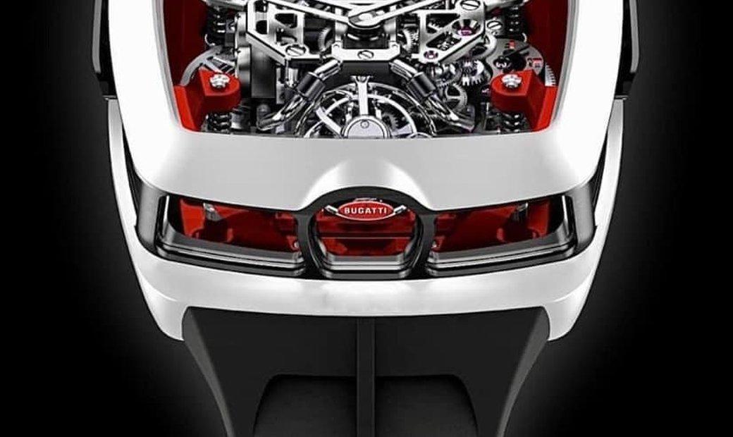Jacob & Co. 捷克豹 [NEW] Bugatti Chiron White 16 Cylinder Piston Engine Tourbillon (Retail:US$280,000)