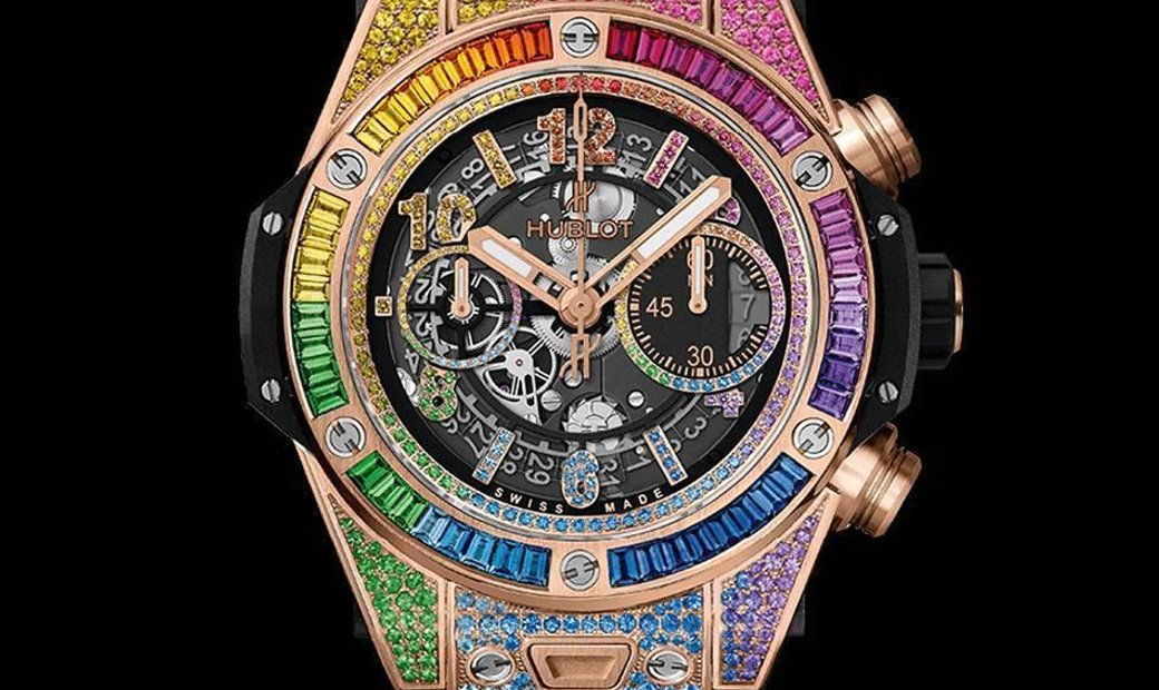 Hublot [NEW] Big Bang Unico Rainbow King Gold 411.OX.9910.LR.0999 (Retail:HK$627,600)