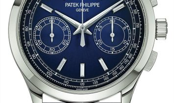 Patek Philippe [NEW] 5170P Complications Chronograph Platinum Blue Dial Watch