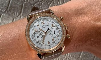 Patek Philippe [NEW] Complications Silvery Opaline Dial Ladies Hand Wound Diamond Watch 7150/250R