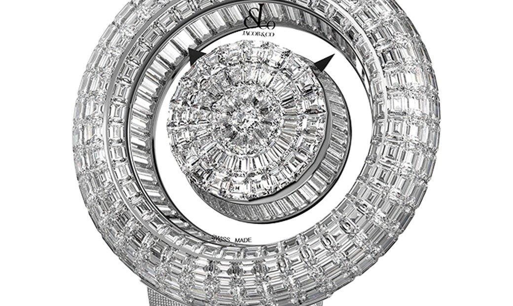 Jacob & Co. 捷克豹 [NEW] Brilliant Mystery Baguette White Diamonds BM555.30.BD.BD.B