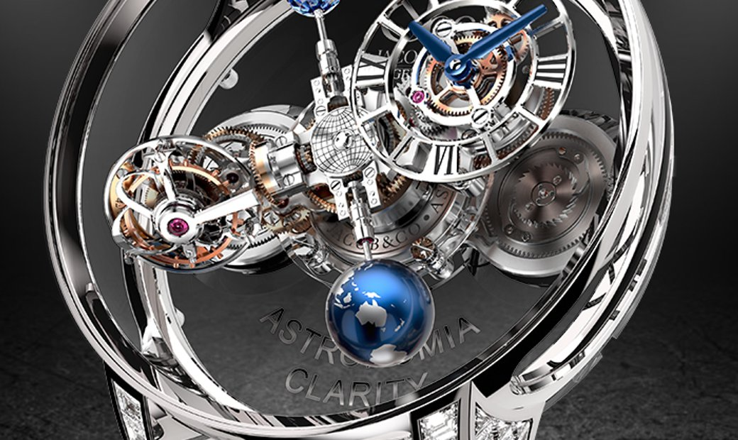 Jacob & Co. 捷克豹 [NEW][LIMITED 9 PIECE] Astronomia Clarity Blue Diamond AT820.30.BD.SB.A