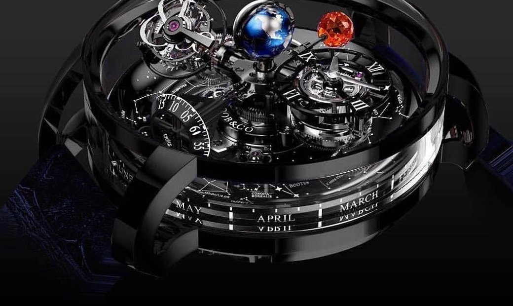 Jacob & Co. 捷克豹 [NEW][LIMITED 18 PIECE] Astronomia Sky Tourbillon Black Gold