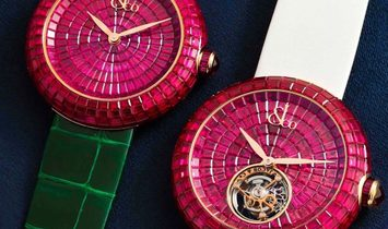 Jacob & Co. 捷克豹 Brilliant Full Baguette Ruby 38mm BA521.40.BR.BR.A (Retail:HK$3,865,800)