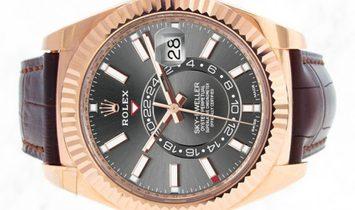 Rolex Sky-Dweller 326135 18 Ct Everose Gold