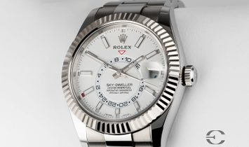 Rolex Sky-Dweller 326934-0001 Oystersteel and White Gold White Dial
