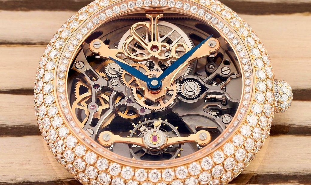 Jacob & Co. 捷克豹 NEW & LIMITED 101 PIECE Brilliant Skeleton Jewelry Rose Gold BS431.40.RD.CB.A