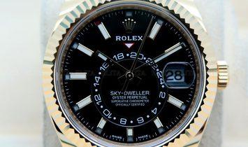 Rolex Sky-Dweller 326938-0004 18 Ct Yellow Gold Black Dial Oyster Bracelet