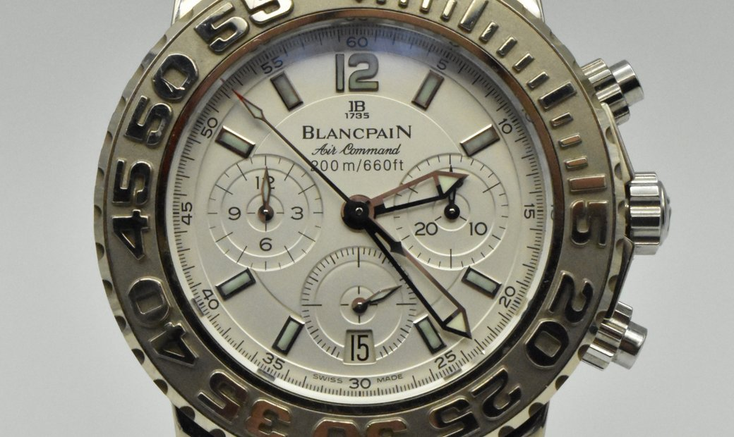 Blancpain Air Command Flyback Chronograph White Gold