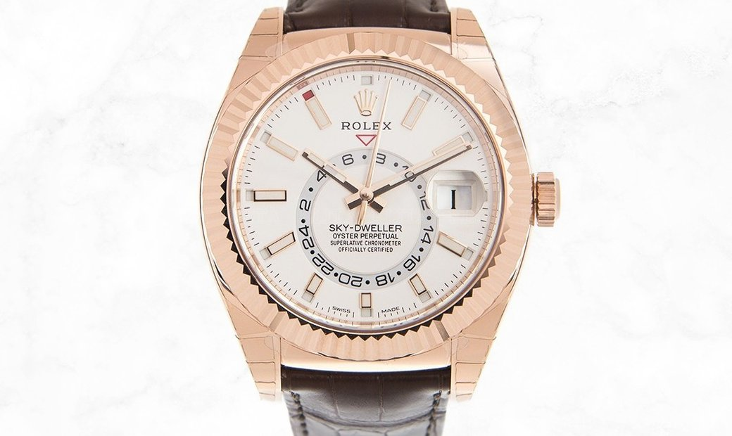 Rolex Sky-Dweller 326135 Oyster and 18 CT Everose Gold