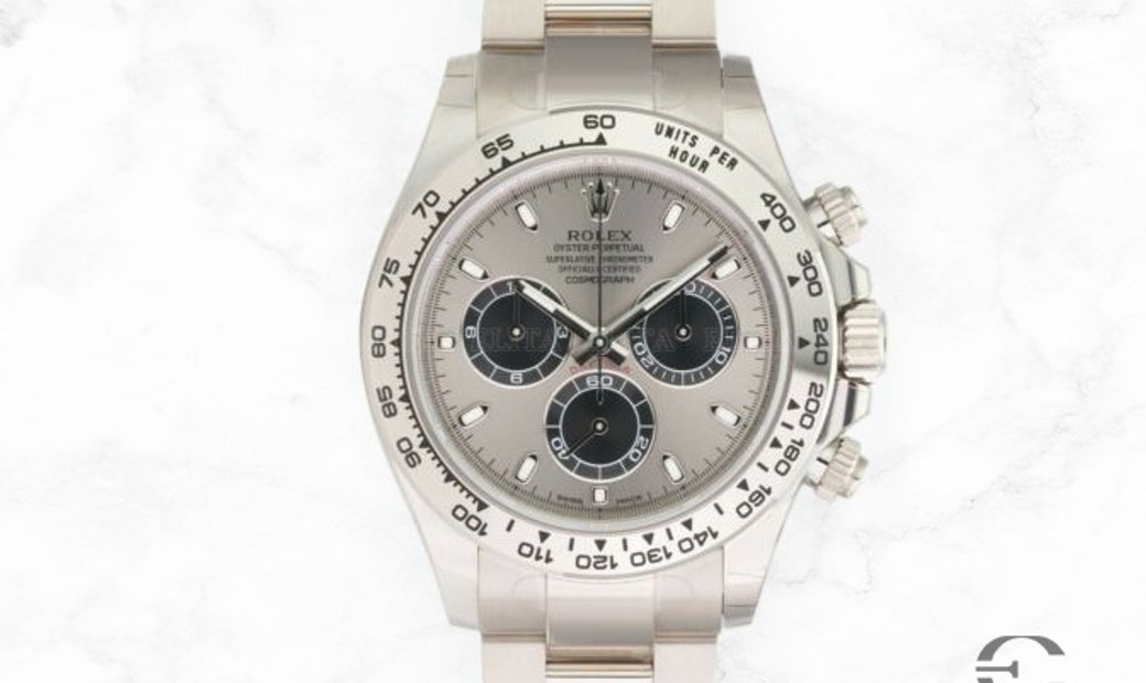 Rolex Daytona Cosmograph 116509 18 Carat White Gold with Steel and Black Dial