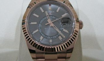 Rolex Sky-Dweller 326935 Rose Gold and Rhodium Dial