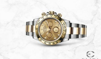 Rolex Daytona Cosmograph 116503 Oystersteel and Yellow Gold Champagne Diamond Set Dial
