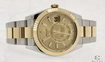 Rolex Sky-Dweller 326933-0001 Oystersteel and 18 Ct Yellow Gold Champagne Dial Oyster Bracelet