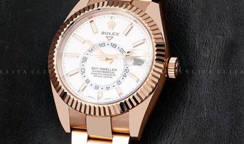 Rolex Sky-Dweller 326935-0005 18 Ct Everose Gold White Dial