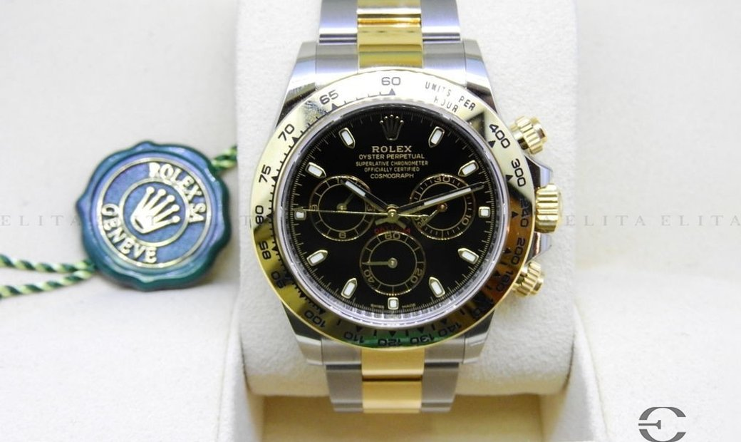 Rolex Daytona Cosmograph 116503-0004 Oystersteel and Yellow Gold Black Dial