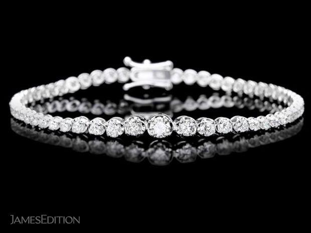 Stunning 3 CTW Diamond & 18K Gold Tennis Bracelet (10956204)