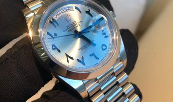 Rolex Day-Date 228206-0025 Platinum 40 mm Ice Blue Dial with Arabic Numerals