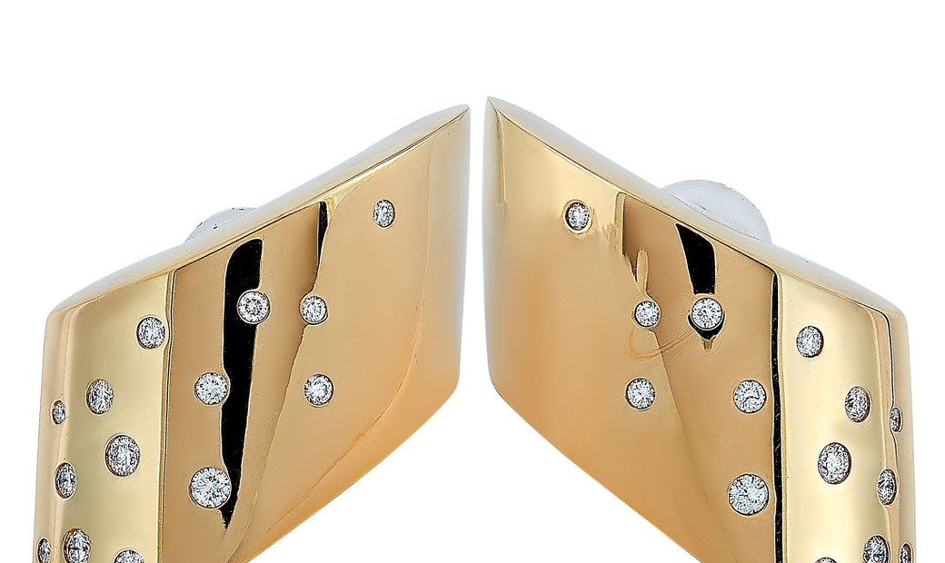 Vhernier Vhernier Eclisse Medio 18K Rose Gold 0.98 ct Diamond Earclips